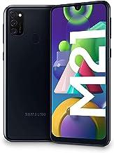 Samsung Galaxy M21 - Smartphone Dual SIM de 6.4 sAMOLED FHD+, Triple Cámara 48 MP, 4 GB RAM, 64 GB ROM Ampliables, Batería 6000 mAh, Android, Versión Española, Color Negro