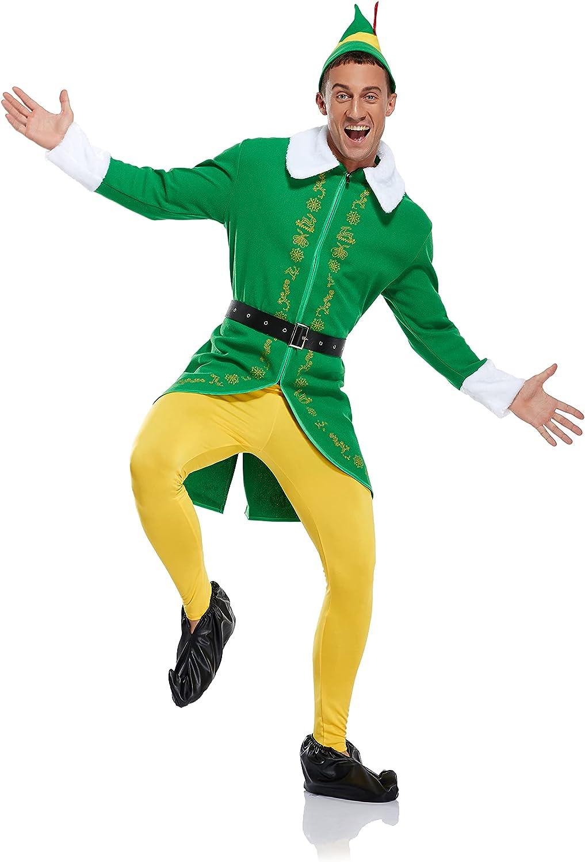 Branded goods Mens Christmas Elf Costume Buddy Co Set 70% OFF Outlet Full Halloween