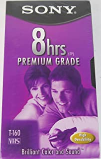 Sony T-160 Premium Grade VHS Tapes - 10 Pack