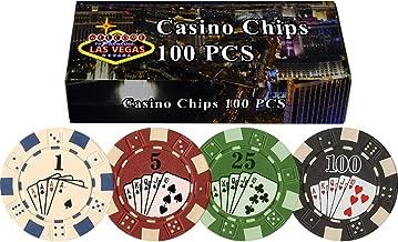 DA VINCI 100 11.5 Gram Poker Chips in Las Vegas Gift Box