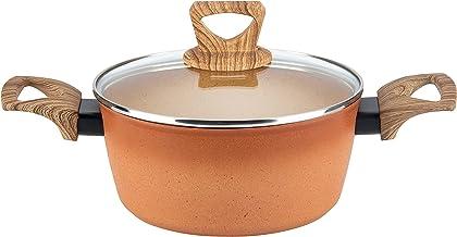 Hamilton Beach Dutch Oven, 4.5-Quart, Casserole Cooking Pot with Glass Lid, Triple-Layer PFOA-Free Nonstick Coating, High-...