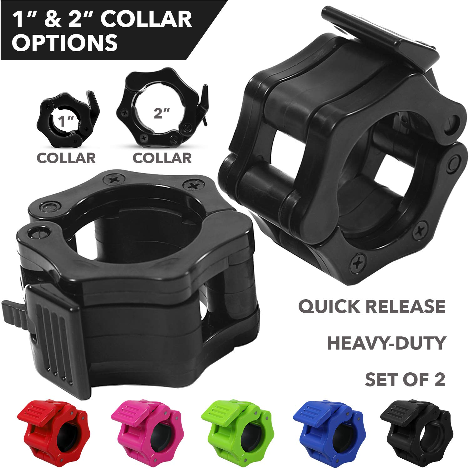 Quick Release Safety Collars Olympic Barbells
