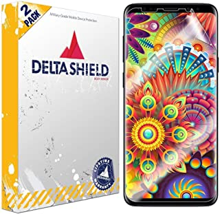 DeltaShield Screen Protector for Samsung Galaxy S9 Plus (2-Pack)(Case Friendly Version) BodyArmor Anti-Bubble Military-Grade Clear TPU Film