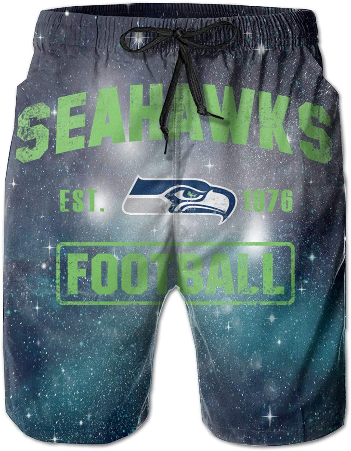 3394594a460f7 Mens Slim Fit Seattle Seahawks 25 Quick Quick Quick Dry Short Swim Trunks  3219a1