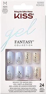 Kiss Gel Fantasy Nails - Painted Veil, 1er Pack 1 x 24 Stück farblich sortiert
