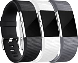 HUMENN Correa para Fitbit Charge 2, TPU Soft Silicona Deportes Recambio de Pulseras Ajustable Accesorios para Fitbit Charge 2 Grande Pequeño