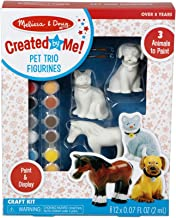 Melissa & Doug Created by Me! Pet Figurines Craft Kit (Resin Dog, Cat, Horse, 12 Paints, 2 Brushes , Great Gift for Girls and Boys - Best for 8, 9, 10 Year Olds, 11, 12 and Up)