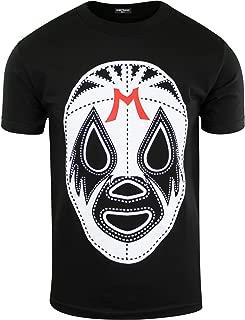 Black Mil Mascaras Shirt Lucha Libre Tee Wrestling Gear