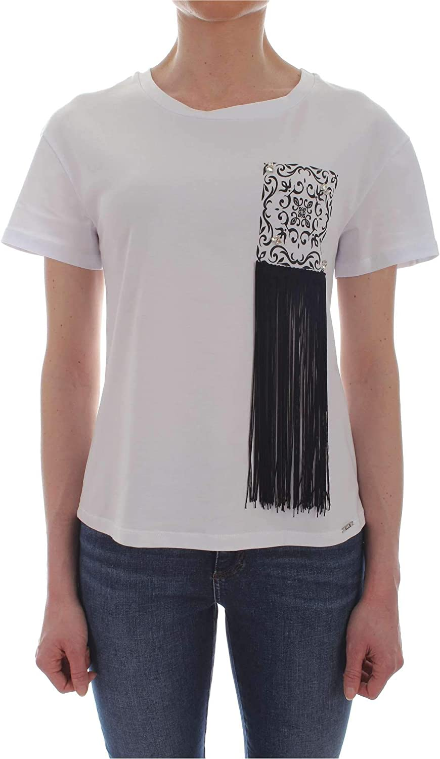 Ellei Women's 51621WHITE White Cotton TShirt