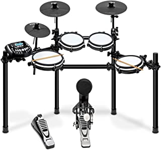 LyxJam 8-Piece Electronic Drum Kit, Professional Drum Set with Real Mesh Fabric, 448 Preloaded Sounds, 70 Songs, 15-Song R...