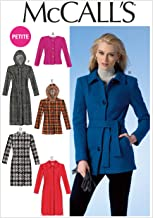 McCall Pattern Company M7058 Misses'/Miss Petite Jackets, Coats and Belt Sewing Template, A5 (6-8-10-12-14)