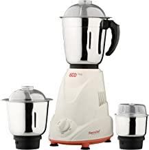 Signora Care Stainless Steel and Plastic Eco Matic 550-Watt Mixer Grinder with 3 Jars, Standard, Cream