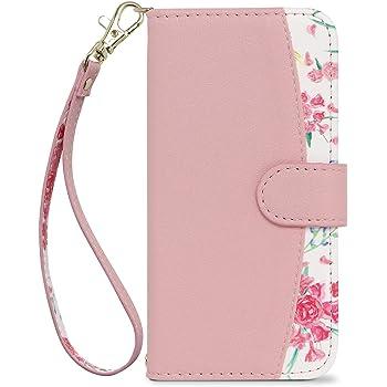 [MINTY] iPhoneSE (第2世代) iPhone8 iPhone7 6s 6 ケース 手帳型 ストラップ付き 花柄 Fleucia (フルーシア) ピンク