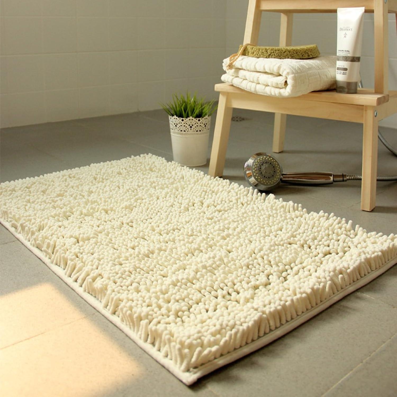 Chenille mat [Living Room] Tea Table Bedroom Bedside Bathroom Door mat for Kitchen-A 100x100cm(39x39inch)