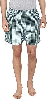 Men Classic Check - Prints Woven Boxer Shorts - Green