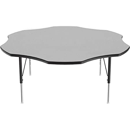 XU-A3072-REC-GY-H-P-GG 30W x 72L Rectangular Activity Table with 1.25 Thick High Pressure Grey Laminate Top and Height Adjustable Pre-School Legs electronic consumers