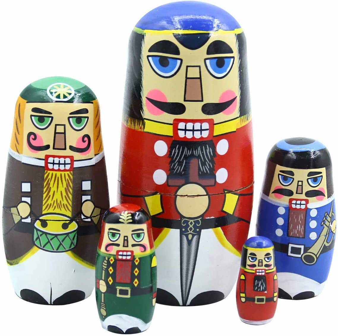 Kakeah Nutcracker Nesting Dolls Wooden Doll Long-awaited 25% OFF Russian Matryoshka H