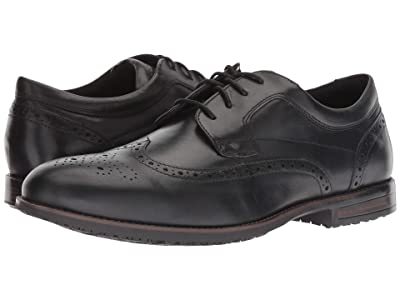 Rockport Dustyn Waterproof Wingtip (Black) Men