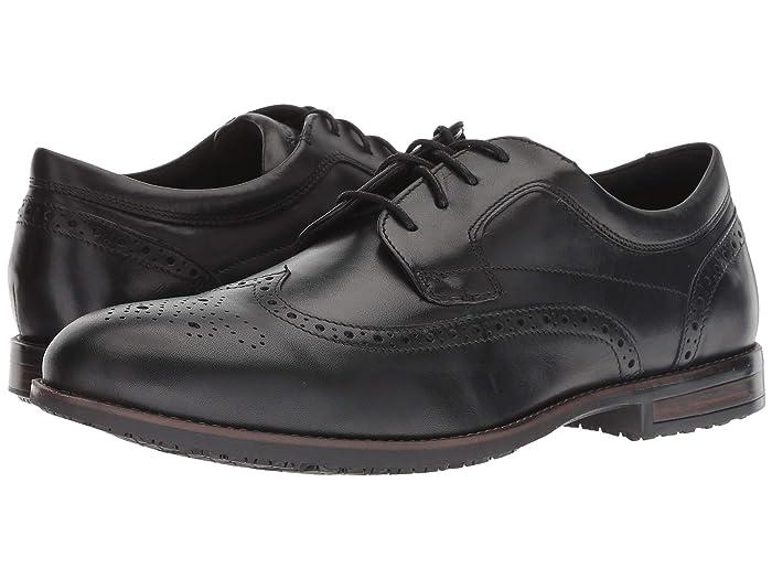 Rockport  Dustyn Waterproof Wingtip (Black) Mens Shoes