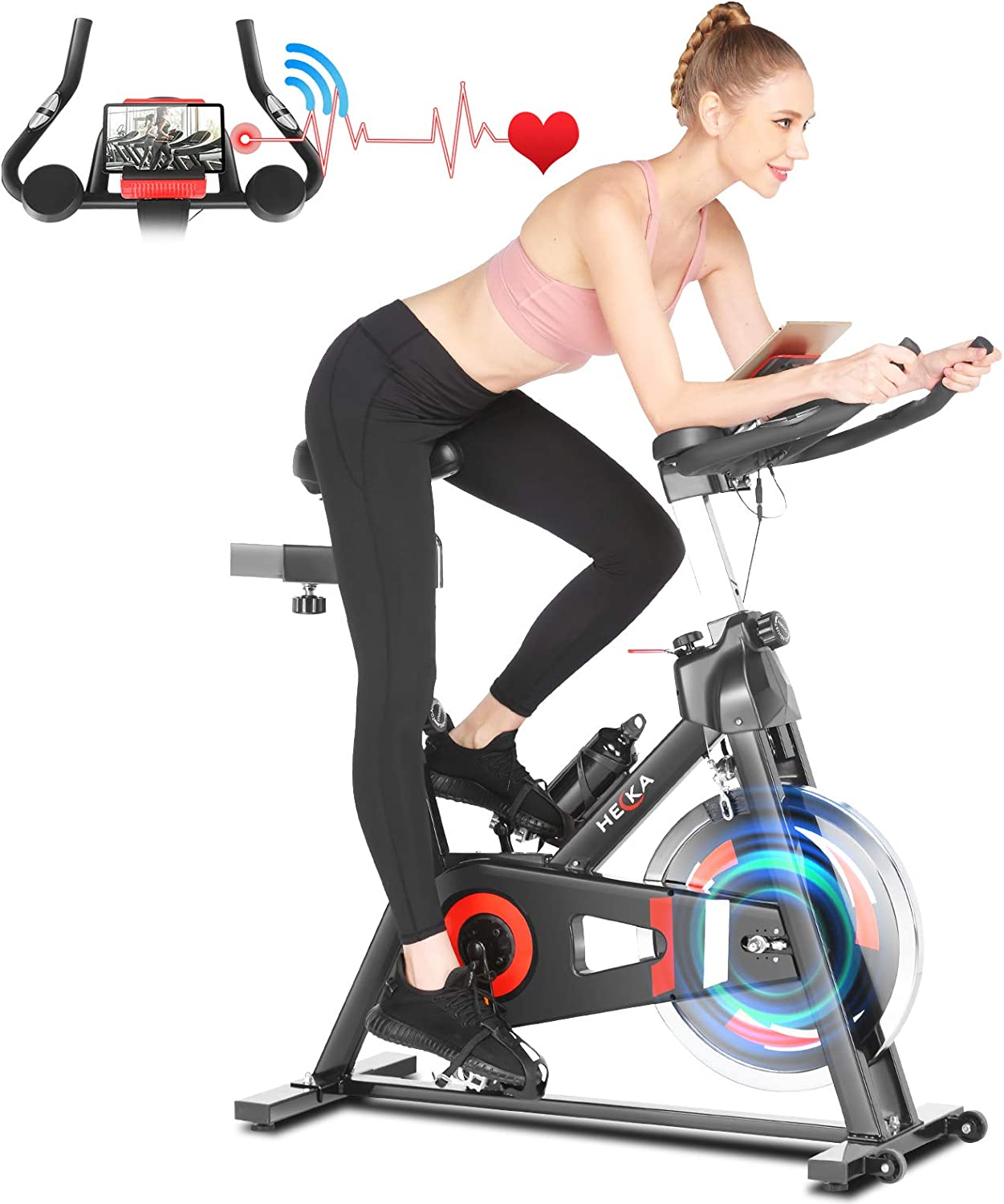 Heka Exercise Price reduction Bike Indoor Cycling Translated lbs Flywhe Stationary 45