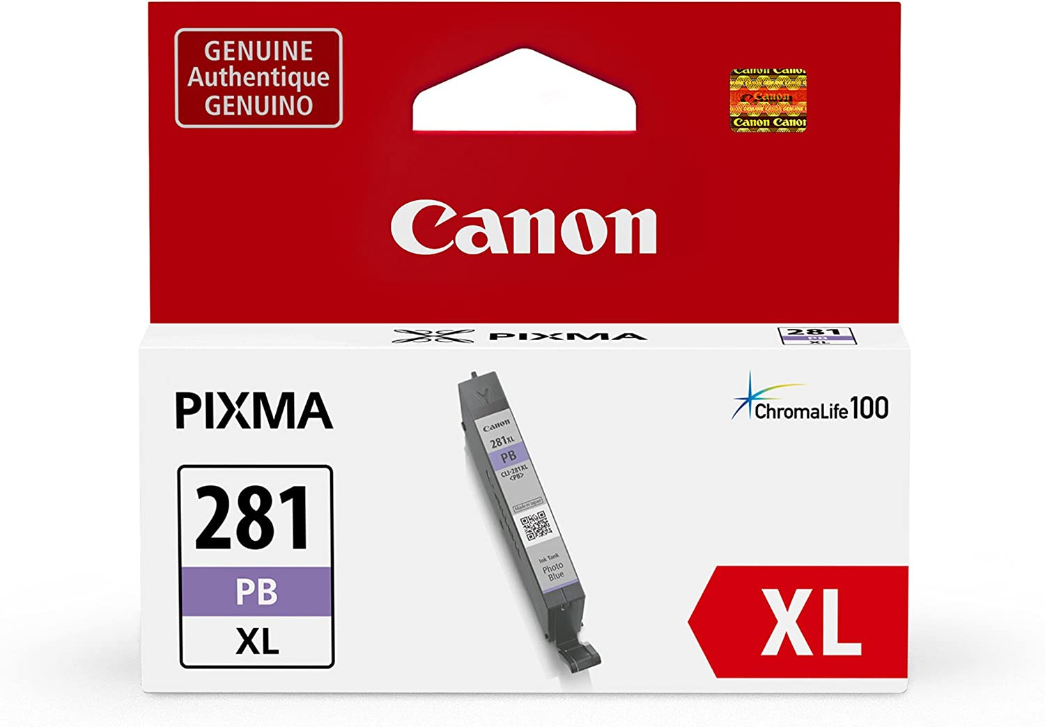Canon CLI-281 XL Photo Blue Ink Tank Compatible to TS9120 Series,TS8120 Series, TS8220 Series