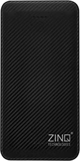 Zinq 20000mAh Li-Polymer Power Bank with 12W Fast Charge Type C & Micro USB Input ZQ20KPC (Black)