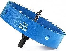 Gatenzaag 150 mm, sneldraaistaal HSS M42 bi-metaal gatenzaag, gatfrees met zeskantige schacht en boor voor hout, gipsplate...