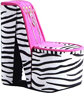 ORE High Heel Shoe Display with Hooks Jewelry Box, HBB1824, Zebra Print, 9""