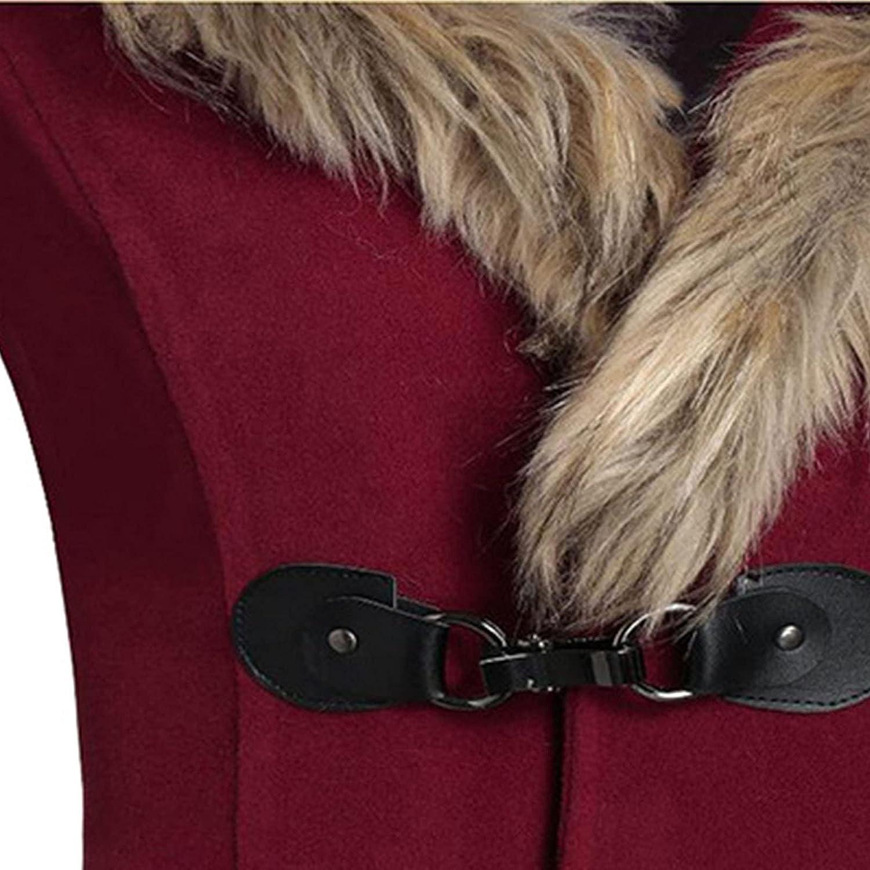 Autumn Fashion Women Cardigan Solid Button Hooded Coat Blouse Slim Plush Winter Warm Outwear