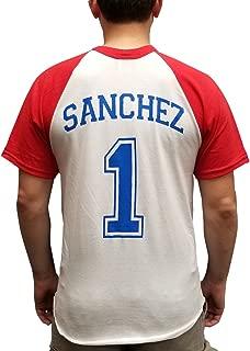 Pablo Sanchez #1 T-Shirt Jersey Backyard Baseball League Costume Secret Weapon
