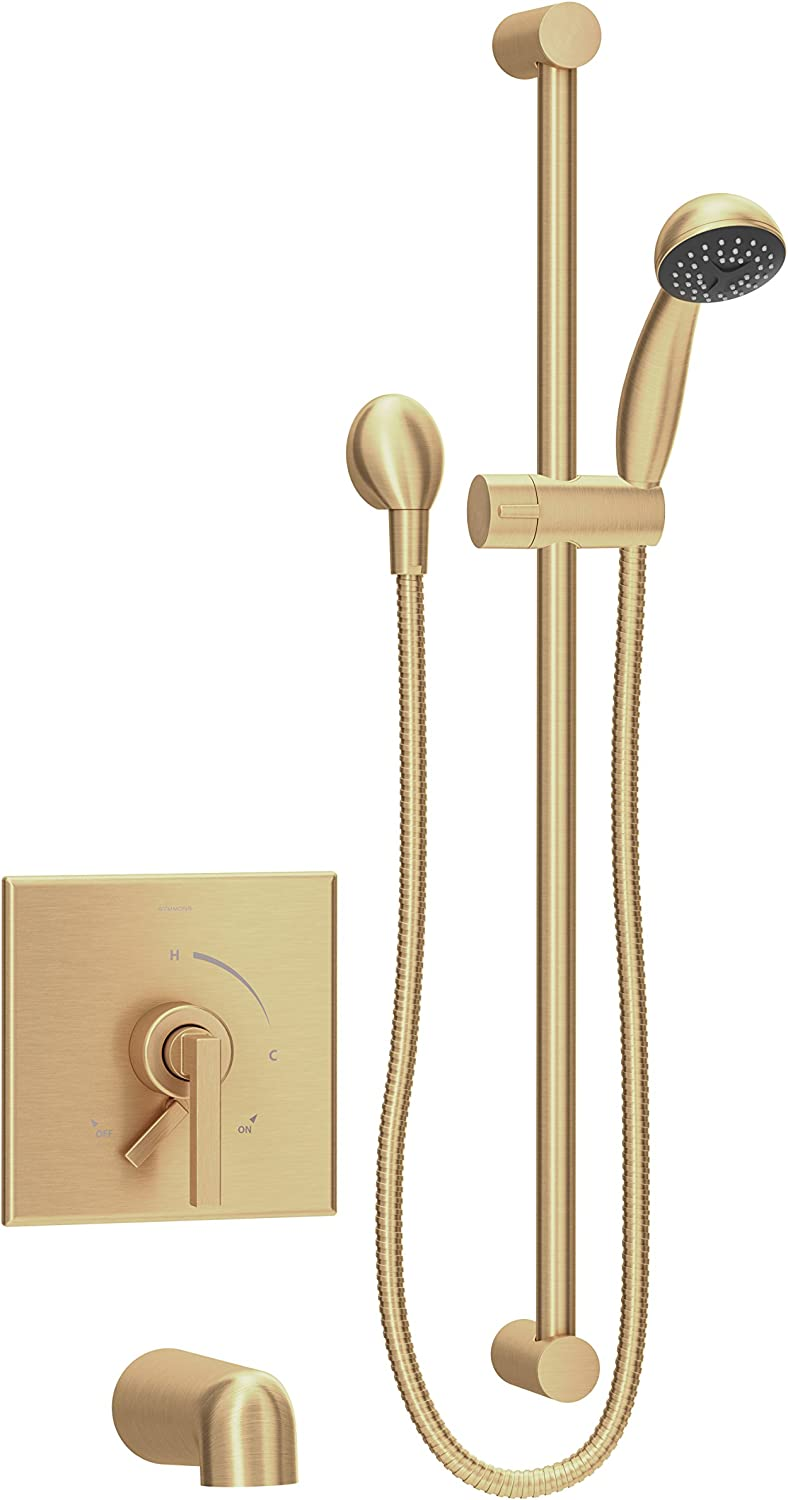 Symmons S 3604 H321 V Bbz 1 5 Trm Duro Single Handle 1 Spray Tub And Hand Shower Trim In Brushed Bronze 1 5 Gpm Valve Not Included Amazon Com