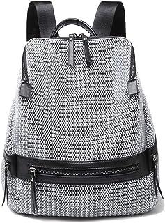 KrisAnna Damen Rucksack Mesh Rucksackhandtasche Eimer Rucksäcke Daypack aus Nylon für Teenager-Mädchen Frauen Silber-Grau...