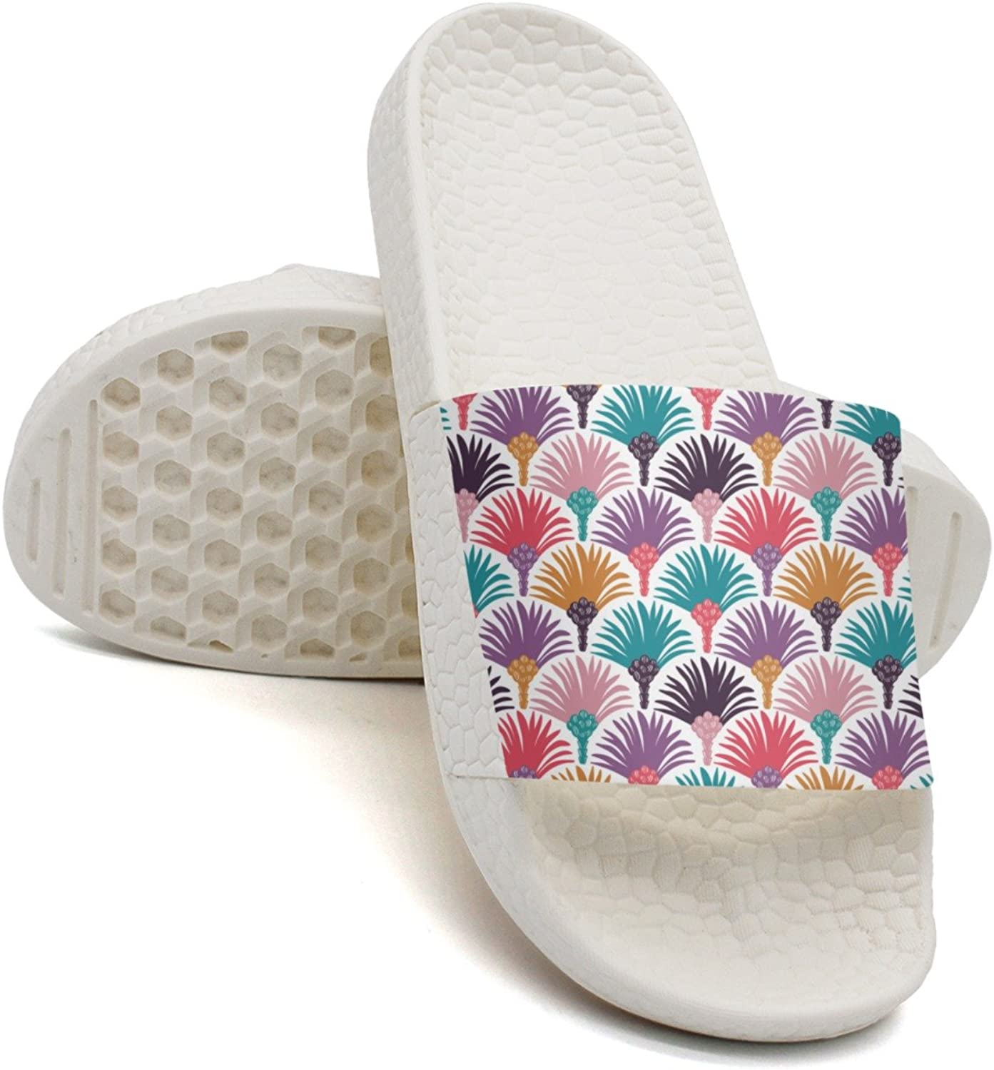 Qiopw rtw Bathroom Shower Non-Slip Sandal Coloful Royal Palm Tree Indoor Slipper shoes for Womens