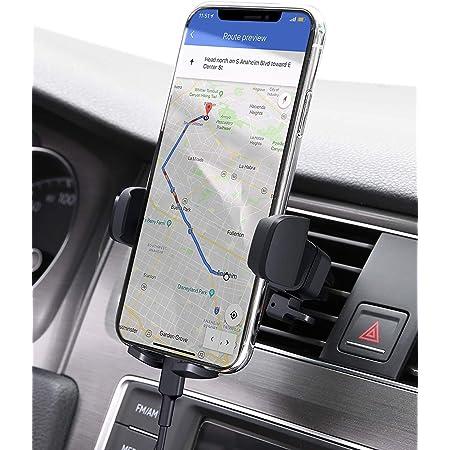 AUKEY Supporto Cellulare Auto 360 Gradi di Rotazione (Garanzia a Vita) Porta Telefono Auto Universale per iPhone 11 / X / 8/7, Samsung S9 / 8/7, Xiaomi, Huawei e GPS Dispositivi