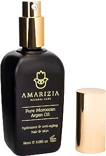 Aceite de Argán Puro de Marruecos / 100% Orgánico y prensado en frío/Hidratante para el pelo, piel, cara, barba y uñas/Anti-edad y antiarrugas/Envase de vidrio oscuro