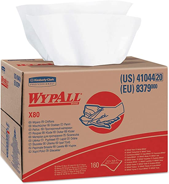 41044 X80 Cloths HYDROKNIT BRAG Box White 12 1 2 X 16 4 5 160 Per Box