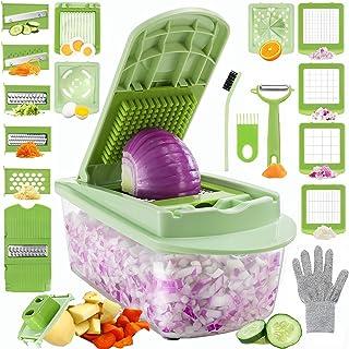 LEPO Vegetable Chopper, Onion Mincer Dicer Mandoline Slicer, 23 in 1 Fruit Food Chopper Vegetable Spiralizer Cutter Egg Sl...