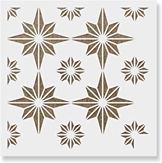 Reusable Floor Tile Stencils for Painting Custom Floors Nebula Tile Stencil Furniture and More! Walls