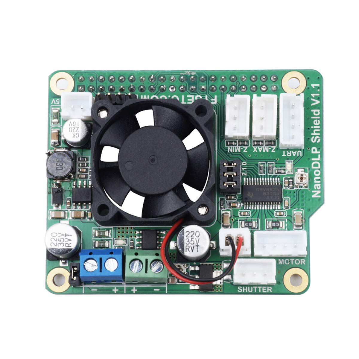 9 – 28 V NanoDLP Shield V1.1 Placa de expansión con interruptores ...