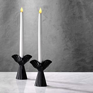 LampLust Black Angel Candle Holder - Taper Holders in Angel Wing Shape, 4.75 Inch Tall, Glossy Finish, Fits Standard Taper...