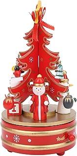 Regalo di Natale per Fidanzata Bambini Children Carillon Natalizio a LED Carillon 3D in Legno Ornamenti Natalizi A Alce Decorazioni per la casa