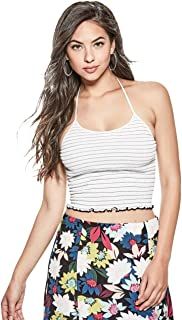 GUESS Poppy Striped Smocked Halter Top