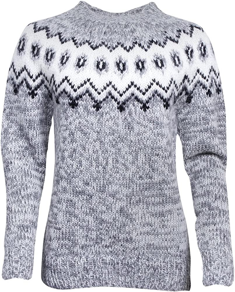 Max 84% OFF ICEWEAR Hulda 100% Icelandic Regular discount Wool Knitted Jumper Hand Crew with