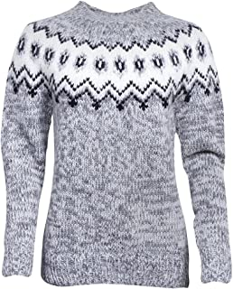 Hulda 100% Icelandic Wool Hand Knitted Jumper with Crew Neck