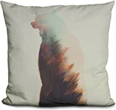 LiLiPi Norwegian Woods Bear Decorative Accent Throw Pillow