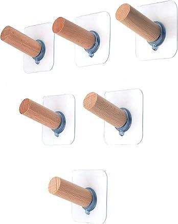 強力 粘着フック 帽子掛け 壁掛け フック - ROKKES 壁 木製 フックおしゃれ 壁フック 傷つけない 壁掛け 穴開けない 壁用 壁貼り 帽子掛け 貼るフック 壁に穴を開けないフック 耐荷重約6kg 防水 強力粘着帽子掛け壁掛けフック