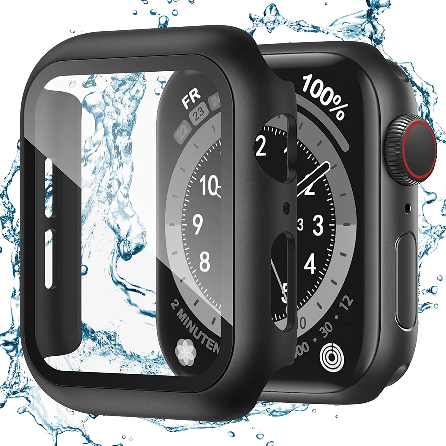 Recoppa for Apple Ranking TOP3 Watch Case 38mm Series 2 Max 86% OFF Prote 1 with Screen 3