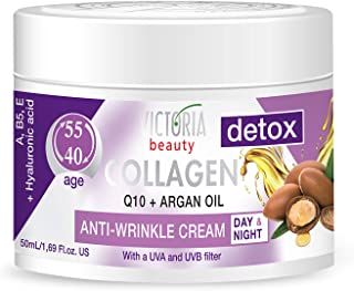Sponsored Ad - Skin Care Detox Day and Night Face Cream Anti-Aging Moisturiser with Collagen, Hyaluronic Acid, Q10, Argan ...