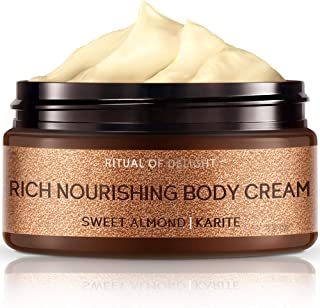 Zeitun Wellness Rich Natural Body Cream For Women   Ritual Of Delight   With Almond Oil And Shea Butter   Intensive Nourishment Body Moisturizer For Dry Skin – 7 oz / 200 ml