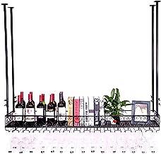 Wine Rack Goblet Wine Glass Rack, Wine Bottle Holder, Bar Unit Floating Shelves Wall Shelf Storage Rack, Loft Vintage Wall...